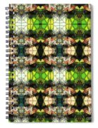 Face In The Stained Glass Tiled Spiral Notebook