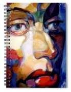 Face Of A Woman Spiral Notebook