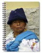 Face Of Ecuador Woman At Cotacachi Spiral Notebook
