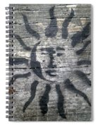 Face Of The Sun Spiral Notebook