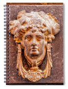 Face On The Door - Square Crop Spiral Notebook