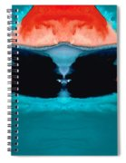 Face To Face - Abstract Art By Sharon Cummings Spiral Notebook