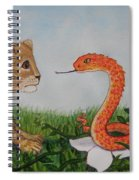 Face To Face Were A Lion And Snake Spiral Notebook
