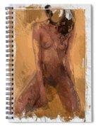 Faceless Girl Spiral Notebook