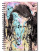Faceless Girl With Her Crow Spiral Notebook