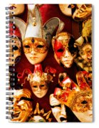 Faces Of Carnavale Spiral Notebook