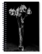 Faded Long Stems - Bw Spiral Notebook