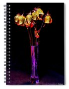 Faded Long Stems Spiral Notebook