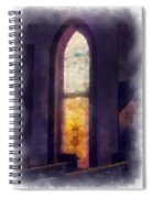 Faded Purple Stained Glass Window Photo Art Spiral Notebook