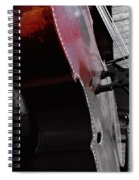 Faded Red Finish Spiral Notebook
