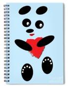 Fading Like A Flower. Panda In Love. 02 Spiral Notebook