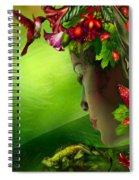 Fae In The Flower Hat Spiral Notebook