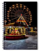 Fairground At Night Spiral Notebook