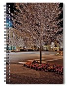 Fairhope Ave With Clock Night Image Spiral Notebook