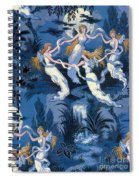 Fairies In The Moonlight French Textile Spiral Notebook