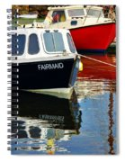 Fairmaid At Mousehole Harbour Spiral Notebook