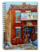 Fairmount Bagel In Winter Montreal City Scene Spiral Notebook