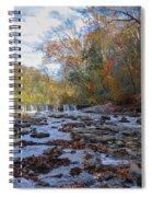 Fairmount Park - Wissahickon Creek In Autumn Spiral Notebook