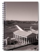 Fairmount Waterworks And Dam In Sepia Spiral Notebook