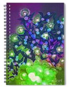 Fairy Light Garden Green By Jrr Spiral Notebook