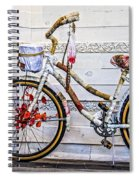 Fairy Tale Bike Flying Machine Spiral Notebook