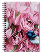 Fairy Wrens And Orchids Spiral Notebook