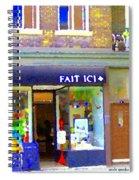 Fait Ici Organic General Store Notre Dame Corner Charlevoix St Henri Shops City Scene Carole Spandau Spiral Notebook