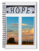 Faith  Hope Love Nature Window View Spiral Notebook
