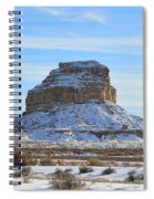 Fajada Butte In Snow Spiral Notebook