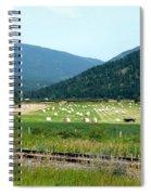 Falkland Hay Bales Spiral Notebook