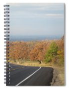 Fall Along The Country Highway 2 Spiral Notebook
