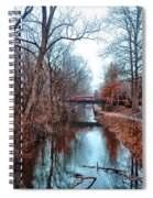 Fall Along The Delaware Canal Spiral Notebook