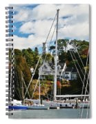 Fall And The Sailboats Spiral Notebook