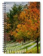 Fall Arlington National Cemetery  Spiral Notebook