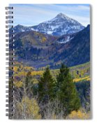 Fall At Cascade Peak And Sundance From Alpine Loop  Spiral Notebook