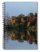 Fall At Heart Pond Spiral Notebook