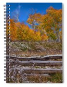 Fall At Last Dollar Road Spiral Notebook