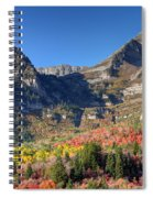 Fall At Mt. Timpanogos From Sundance - Utah  Spiral Notebook