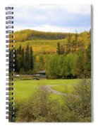 Fall At The Course Spiral Notebook