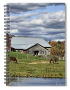 Fall At The Horse Farm Spiral Notebook