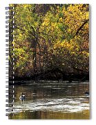 Fall At The Lake Spiral Notebook