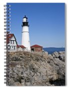 Fall At The Lighthouse Spiral Notebook