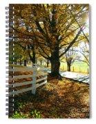 Fall Back Roads Spiral Notebook
