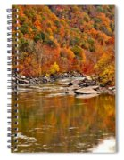 Fall Brilliance At New River Spiral Notebook