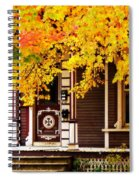 Fall Canopy Over Victorian Porch Spiral Notebook