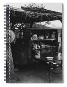 Fall Cattle Round-up Tohono O'odham Reservation Cook's Work Area Hanging Meat For Curing Near Sells  Spiral Notebook