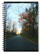 Fall Color Blur Spiral Notebook
