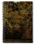 Fall Color Trees V9 Pano Spiral Notebook