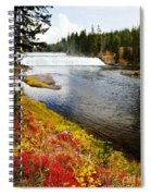Fall Colors And Waterfalls Spiral Notebook