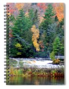 Fall Colors On The  Tahquamenon River   Spiral Notebook